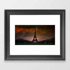 Bonsoir Paris Framed Art Print
