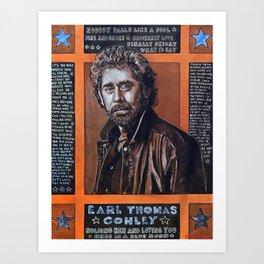 Earl Thomas Conley ETC Art Print