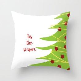 Tis the Season Christmas Tree Throw Pillow