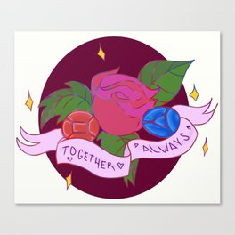 Together always (Ruby/Saphire) Canvas Print