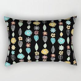 cloisonne stripe black Rectangular Pillow