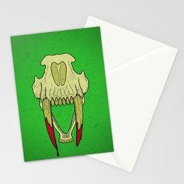 Sabertooth Skull Stationery Cards