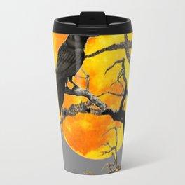FULL MOON & RAVEN ON DEAD TREE Travel Mug
