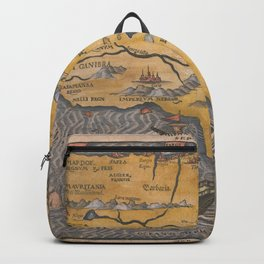 Vintage Map Print - 1592 map of Africa in Czech by Heinrich Bünting Backpack
