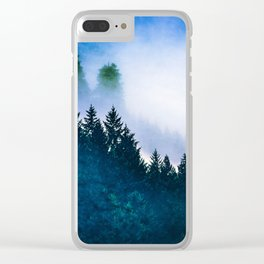 Winter Blues Clear iPhone Case