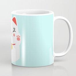 Lucky happy Japanese cat Kaffeebecher