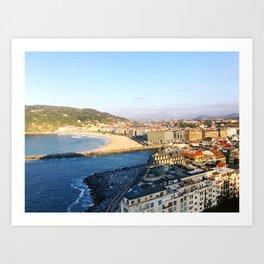 Donostia San Sebastián overlook Art Print