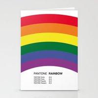 pantone Stationery Cards featuring Pantone RAINBOW by Alberto Lamote de Grignon