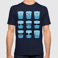 Glasses LARGE Mens Fitted Tee Navy