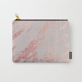 Porcelain grey rose gold Carry-All Pouch
