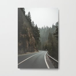 Mountain Road. || Italy. || Dolomites. || Alps. || Winter. || Road Trip. || Traveling Metal Print