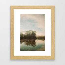 Calm Lake Framed Art Print