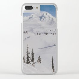 Snowy Mount Hood Clear iPhone Case