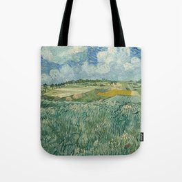 Plain at Auvers with rain clouds Tote Bag