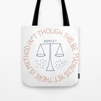 shakespeare Tote Bags featuring Shakespeare by Tugrul Peker