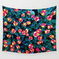 tulips Wall Tapestries featuring Tulips by Madison Webb