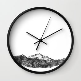 Pike's Peak Colorado Mountain Art Wall Clock