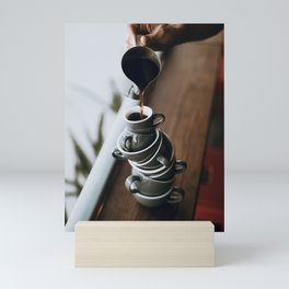 Coffee Tower Mini Art Print