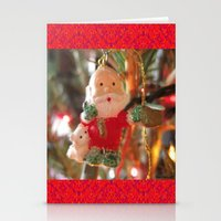 santa Stationery Cards featuring Santa by lillianhibiscus