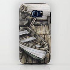 Old Boat on the Dock Galaxy S6 Tough Case