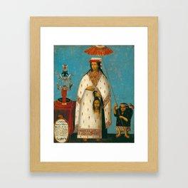 Inca Princess - La Gran Ñusta Mama Occollo, 1800s Framed Art Print