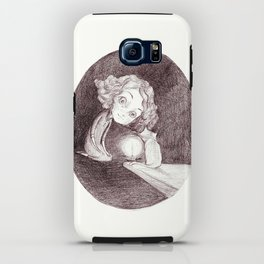 girl, cat and candle iPhone Case