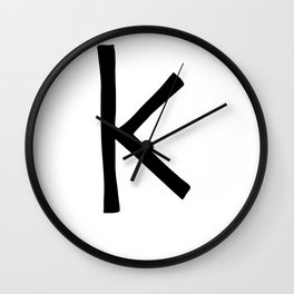 K Monogram (Hand 2) Wall Clock