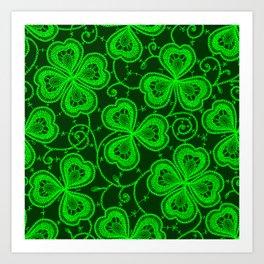 Clover Lace Pattern Art Print