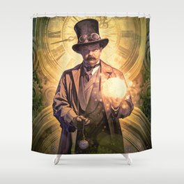 Time Roads Shower Curtain