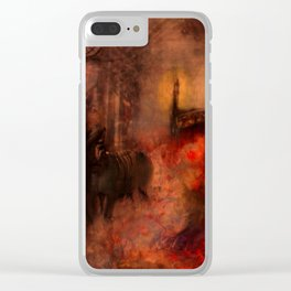 The fourth horse Clear iPhone Case