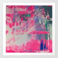Abstract Neon Seaweed Screen Print/Silkscreen Art Print