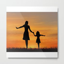 Mother's Day T-Shirt Metal Print