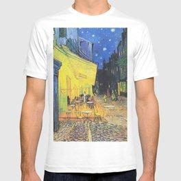 Café Terrace at Night by Vincent van Gogh T-shirt