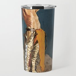 "Western Art ""Conjuring Back the Buffalo"" by Frederic Remington Travel Mug"