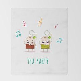 Tea Party Throw Blanket