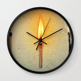 three mathes in line Wall Clock