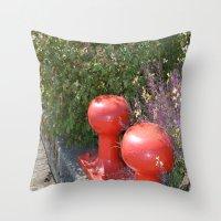 boardwalk empire Throw Pillows featuring Boardwalk by Tawnya's Studio