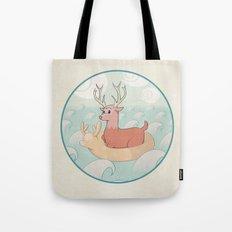 Deer Across the Sea Tote Bag