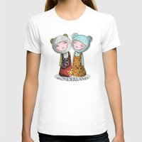 wonderland T-shirts featuring wonderland by Agnes Laczo