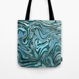 Liquid Glamour Luxury Turquoise Teal Watercolor Art Tote Bag