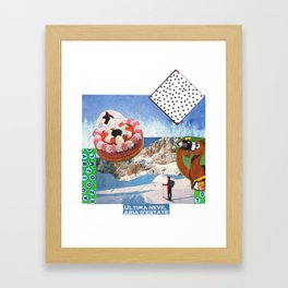 skiing Framed Art Print