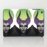 maleficent iPad Cases featuring Maleficent by clayscence