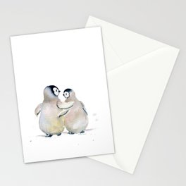 Two Little Penguins Stationery Cards
