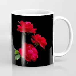 Red roses on black background Coffee Mug