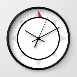 My Compass Points to Adventure Wall Clock