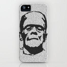 Words of Frankenstein iPhone Case