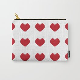 Hearts pattern red and white minimal modern essential valentines day gifts for anyone love Carry-All Pouch