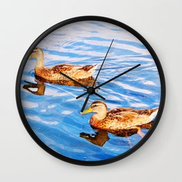 2 Ducks in a Pond Wall Clock