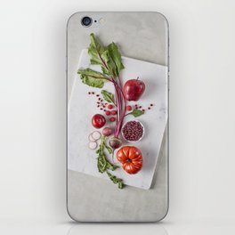 Red Organic Fruits and Vegetables iPhone Skin