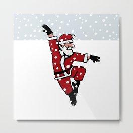 Dancing Santa - 1 Metal Print